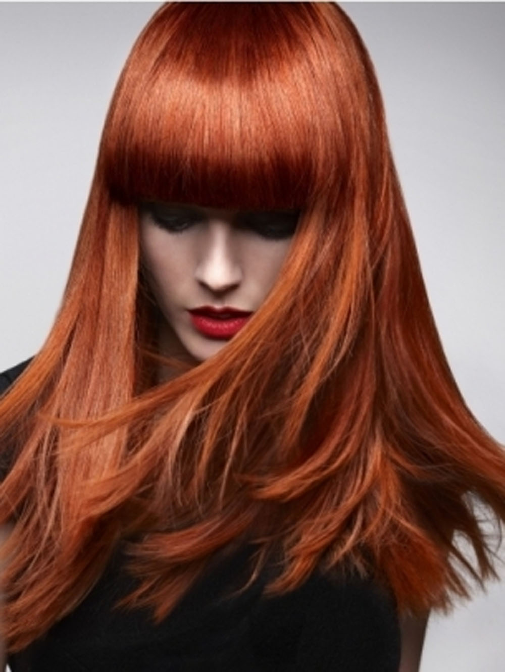 Как покрасить темные волосы в медный